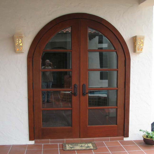 Exterior Double Doors with Glass Panes