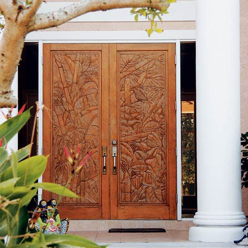 Double Carved Doors